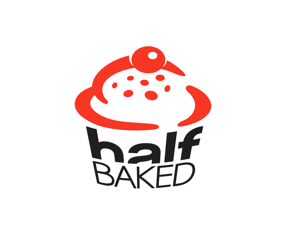 Bold Modern Food Store Logo Design For Half Baked By Zoran