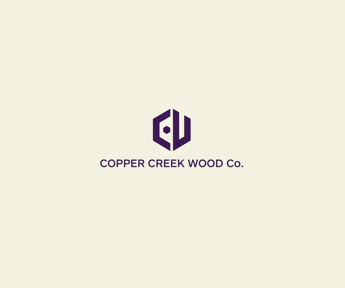 Logo Design By ELO For Copper Creek Wood Company