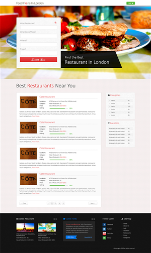 Web Design by DesignGalaxy - Food fans website needs a desktop homepage design