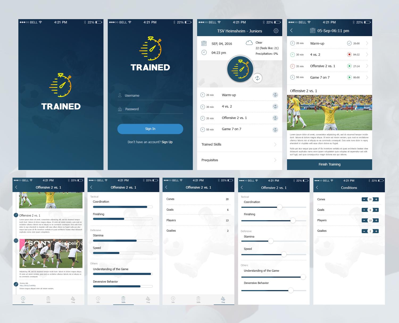 App Di Design elegant, playful, training app design for a company by