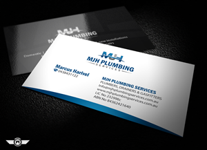 Business Card Design job – MJH PLUMBING SERVICES – Winning design by Mohammad | DroitLab™