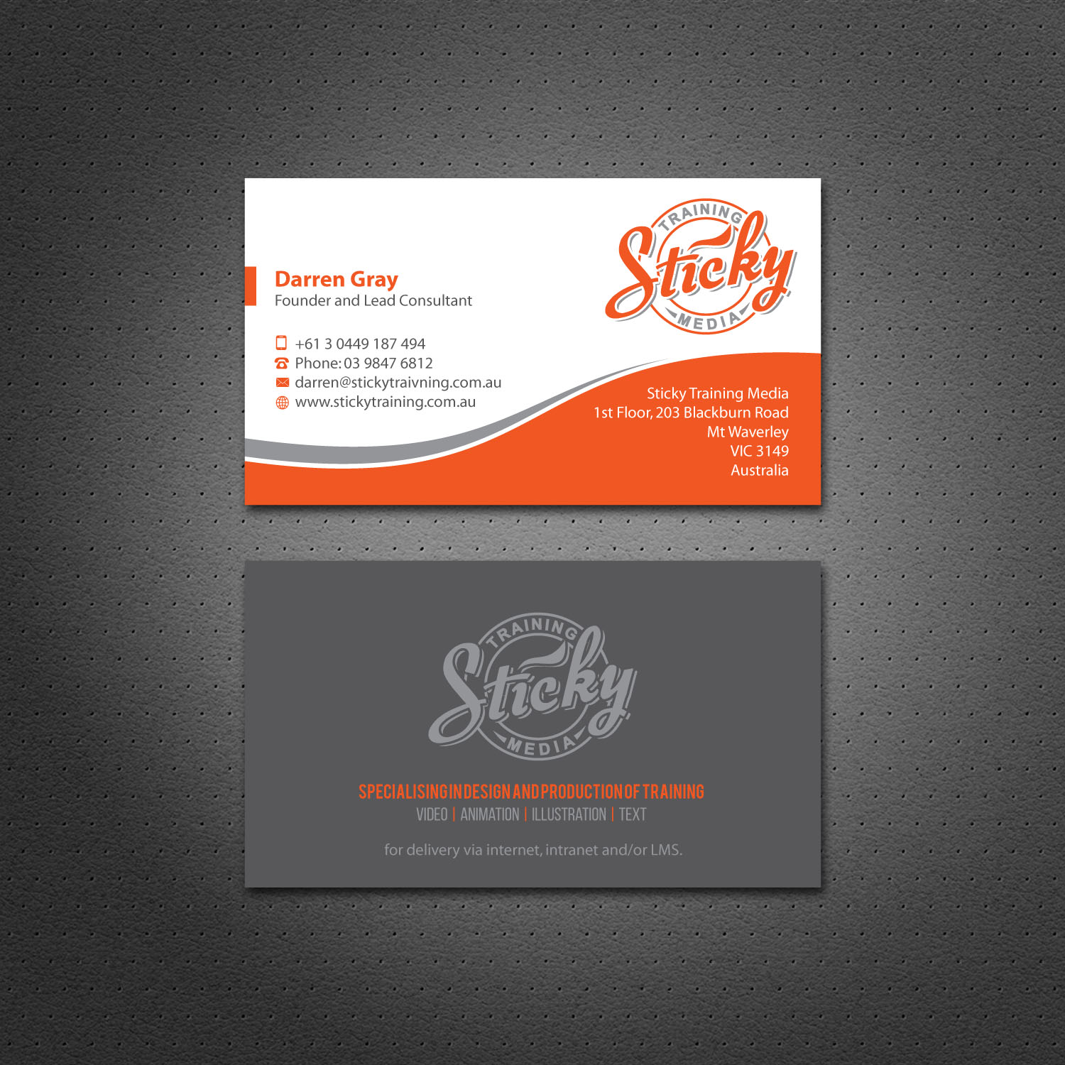 Serious, Modern, Training Business Card Design for a Company by ...