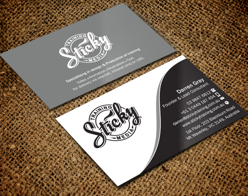Serious modern training business card design for a company by business card design by brand aid for this project design 11889671 reheart Choice Image