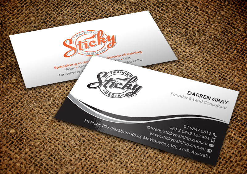 Serious modern training business card design for a company by business card design by chandrayaaneative for this project design 11889677 reheart Choice Image