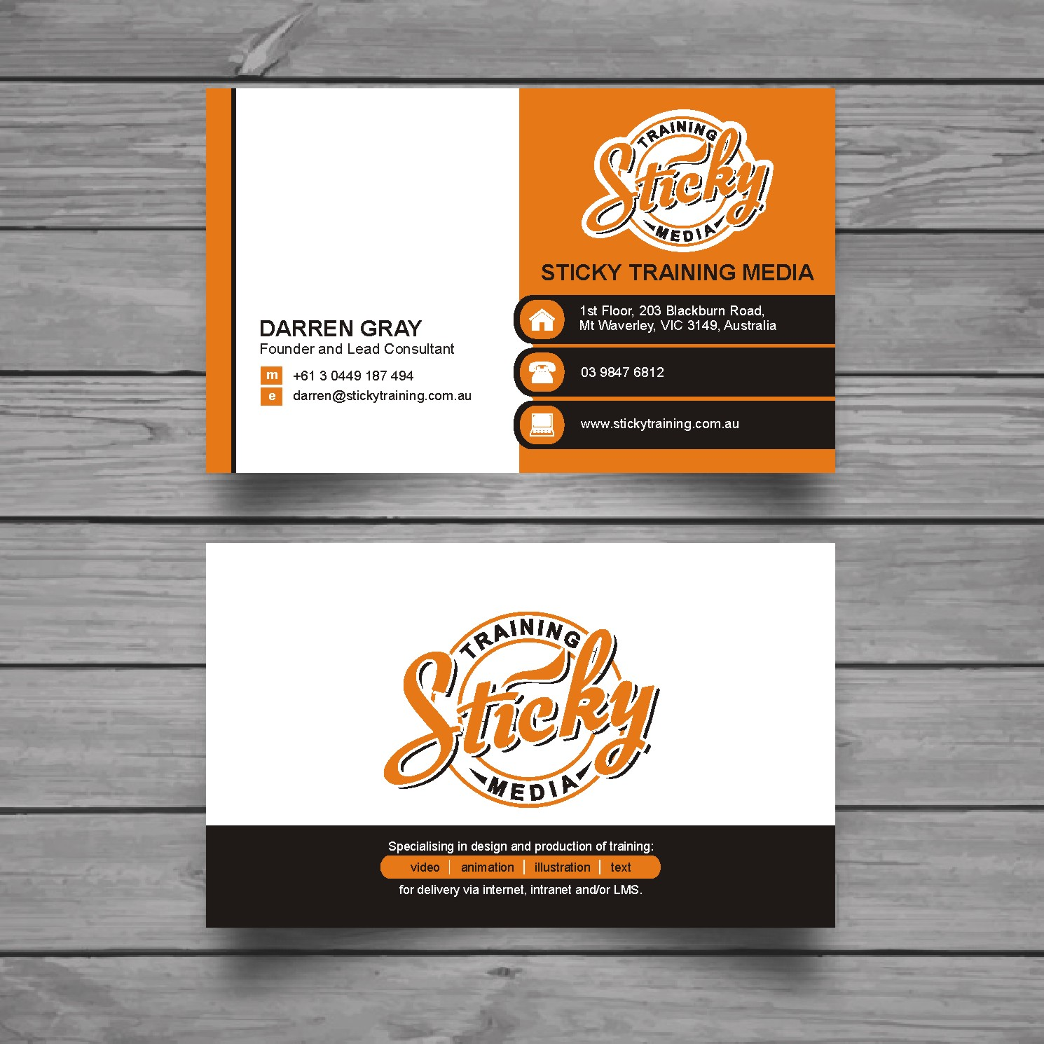 Serious modern training business card design for a company by business card design by raajesh for this project design 11906700 reheart Choice Image