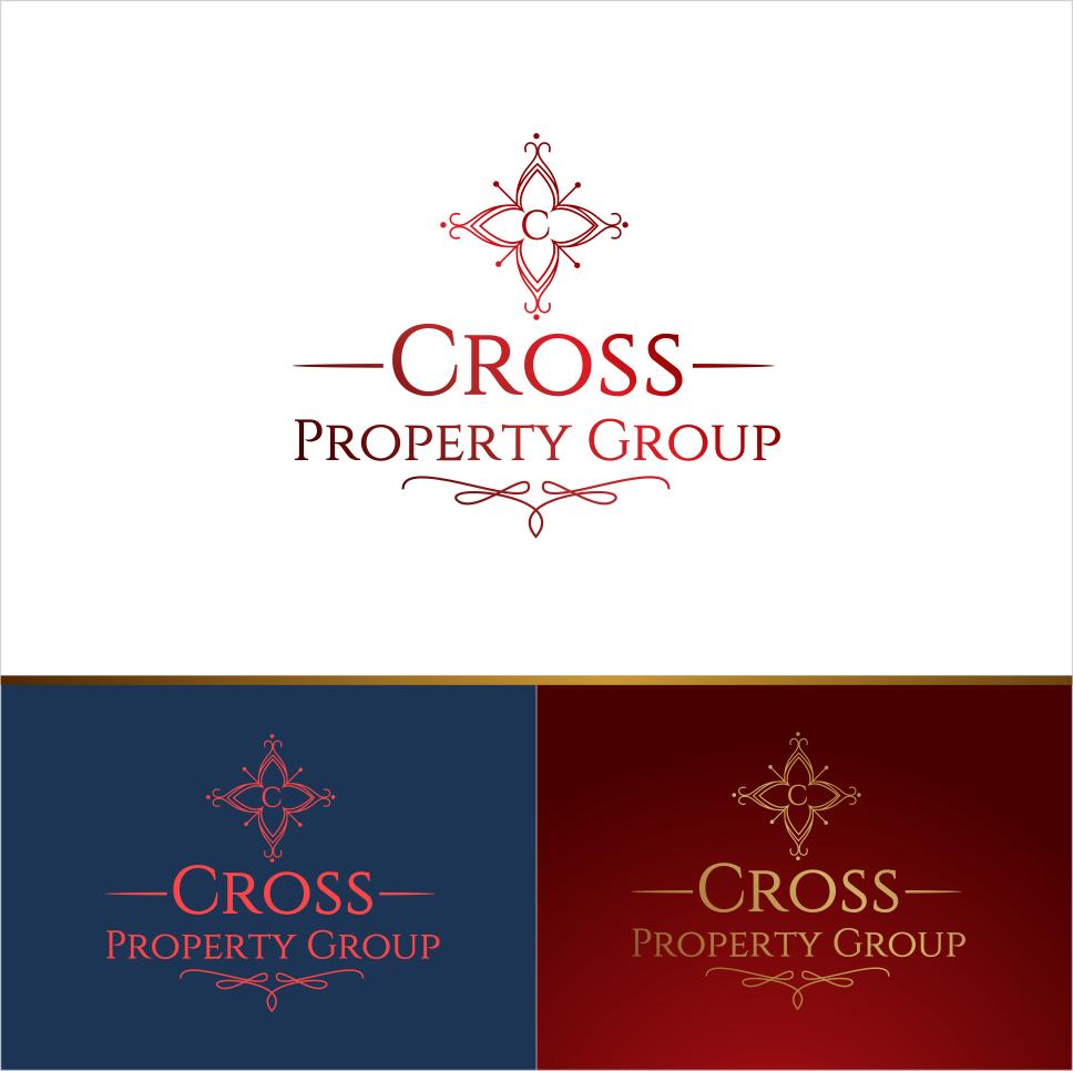 Upmarket Elegant Real Estate Logo Design For Cross Property Group