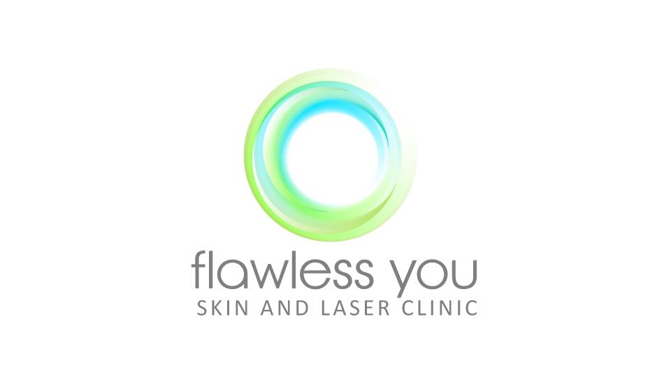 Elegant, Modern, Clinic Logo Design for Flawless You/ skin
