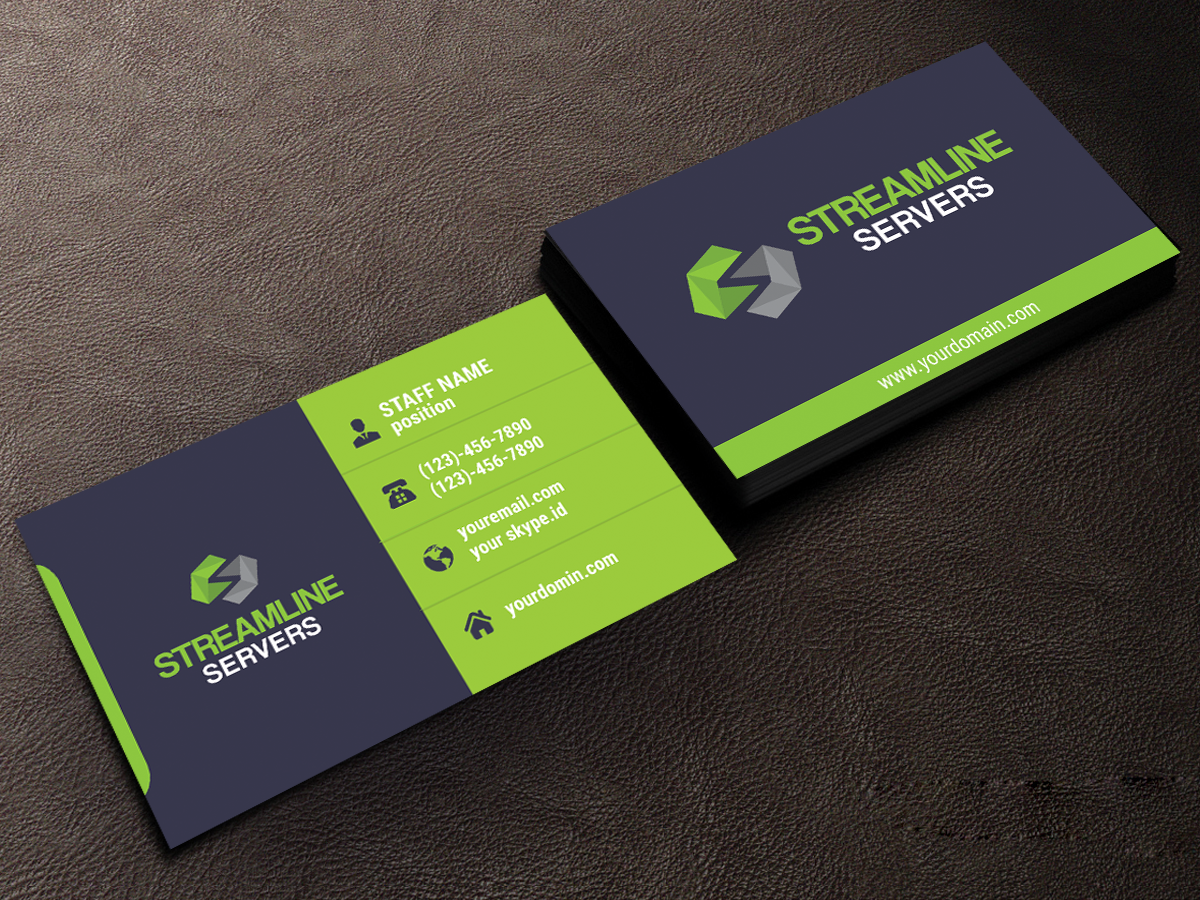 Modern professional business business card design for streamline business card design by jaspreet for streamline servers limited design 11969942 colourmoves Image collections