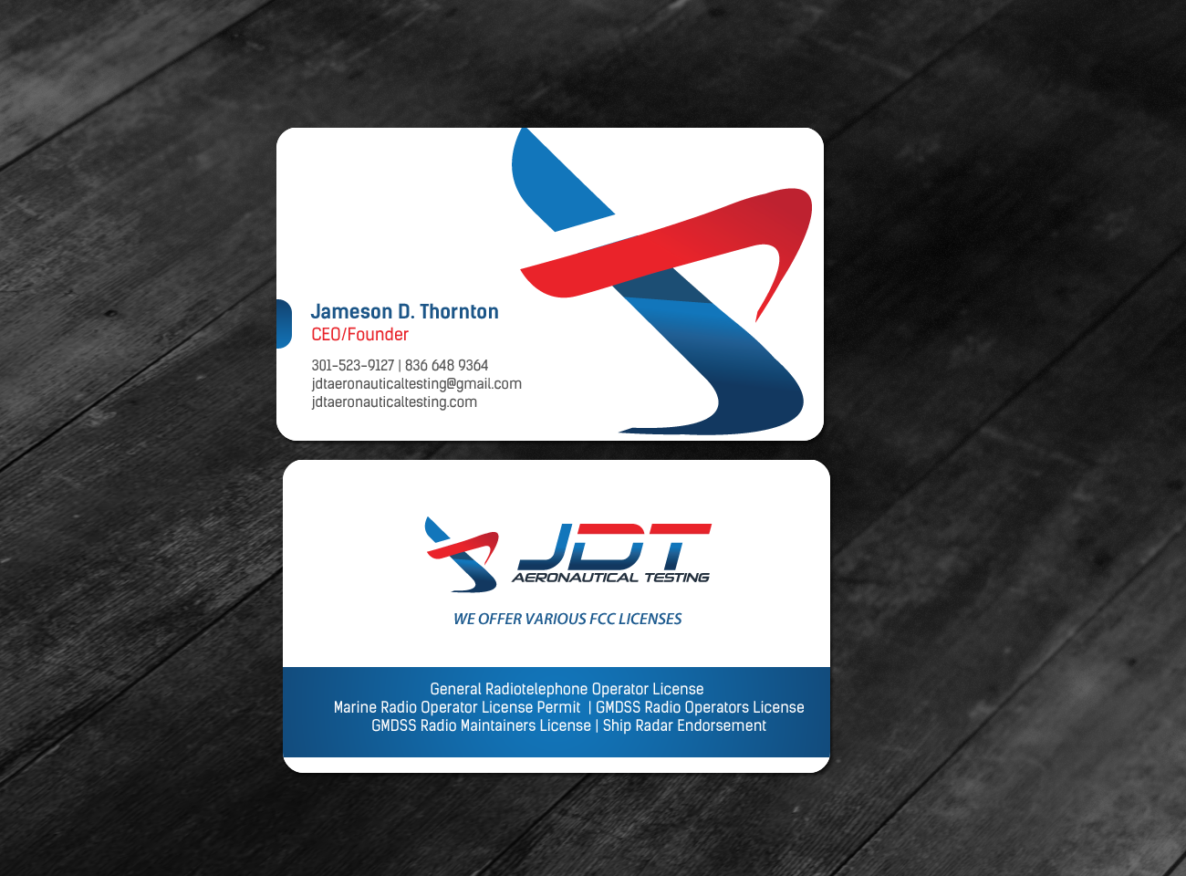 Serious Colorful Business Business Card Design For Jdt