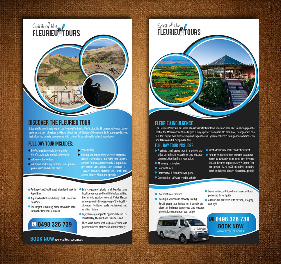 tour brochure design