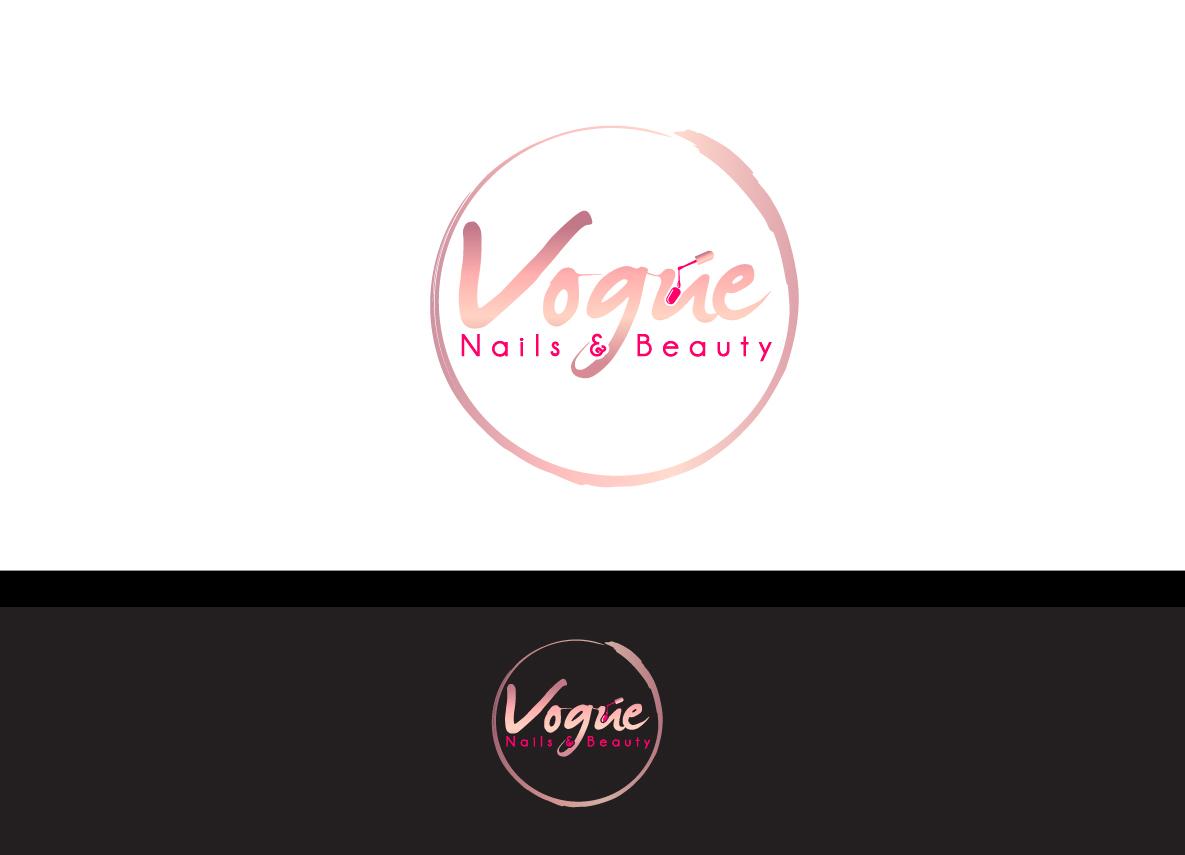 Feminine Modern Beauty Salon Logo Design For Vogue Nails Beauty