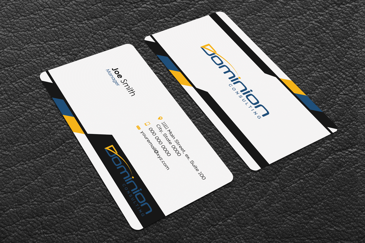 Modern, Upmarket, Management Consulting Business Card Design for a ...
