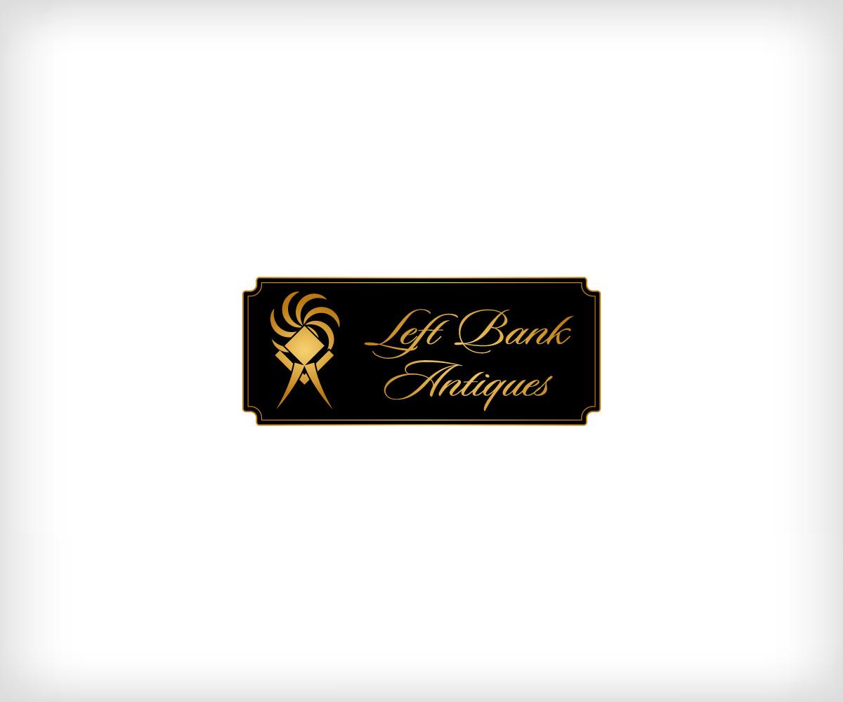 Design Bank Twist.Elegant Playful Shop Logo Design For Left Bank Antiques By