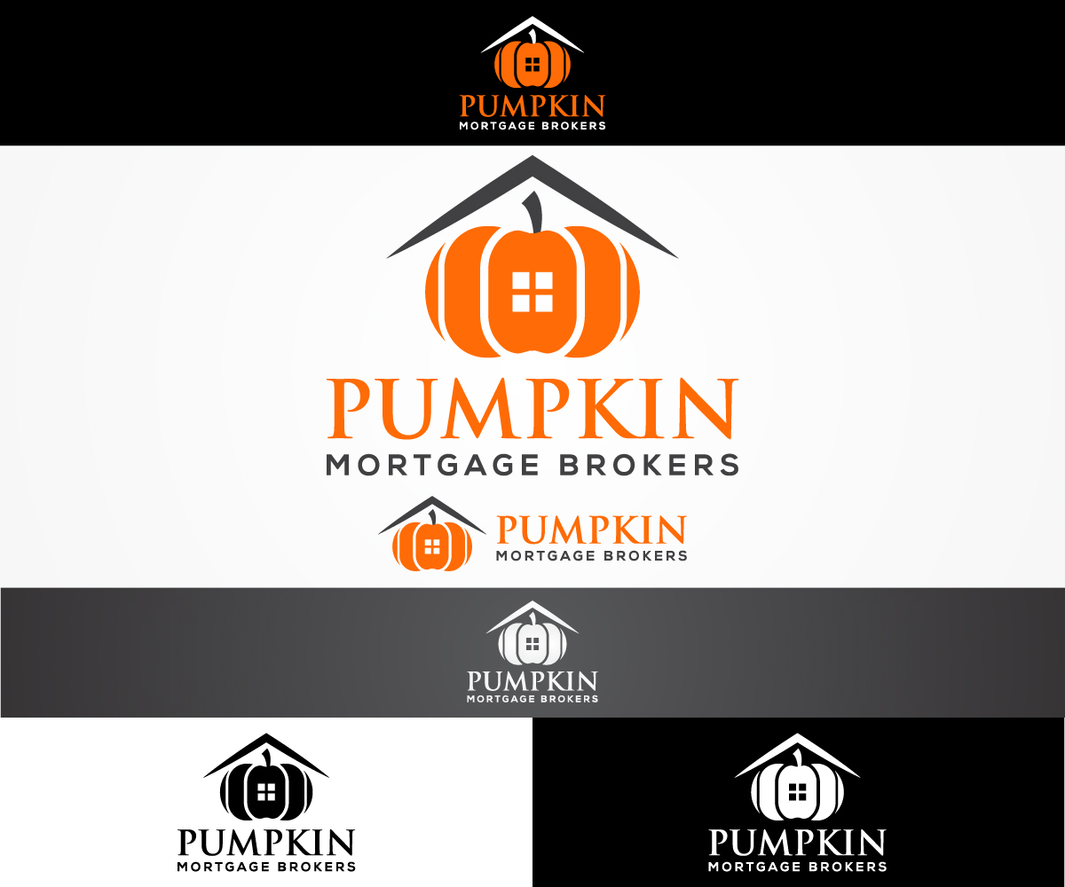 Colorful, Bold, Finance Logo Design for Pumpkin Mortgage Brokers by