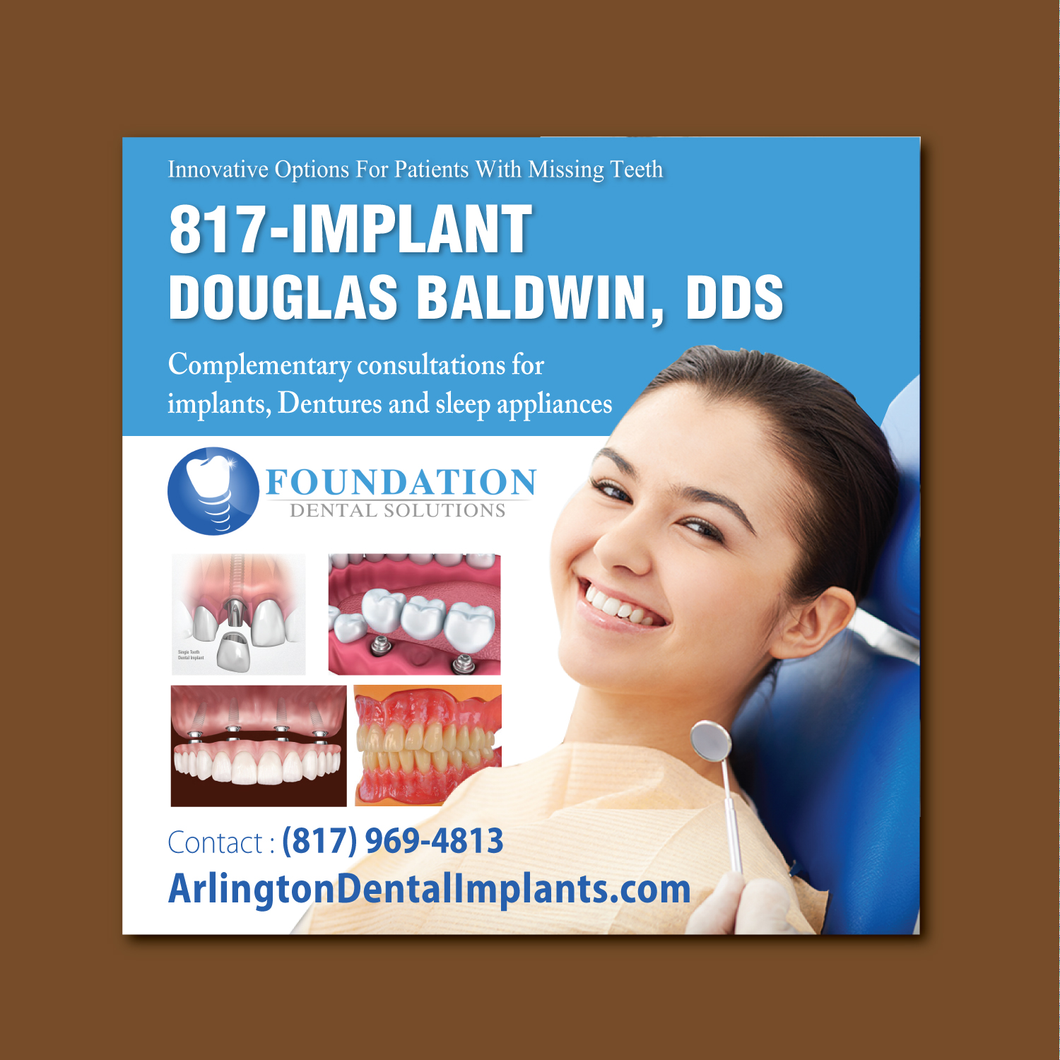 Advertisement Design By ShiyaIndia For Dental Implantologist Seeking Unique Illustrated Ad
