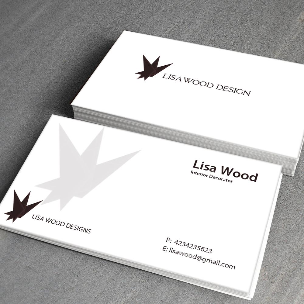 Upmarket elegant trade business card design for