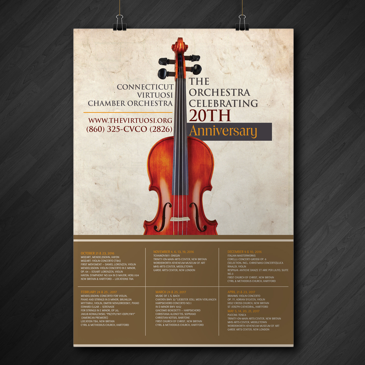 Modern Poster serious modern poster design for connecticut virtuosi chamber