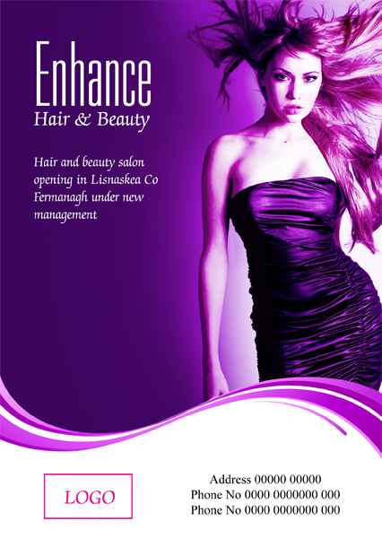 Flyer Design By MasterMind For Hair Beauty Salon