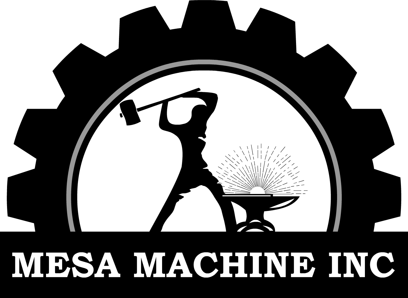 Serious Masculine Shop Logo Design For Mesa Machine By Kyo Last