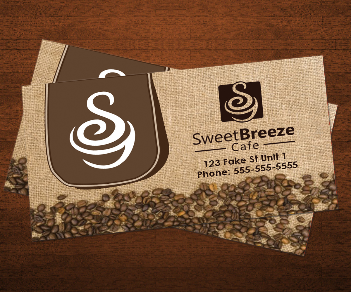 Business Card Design By Arjun P Haridasan For Sweet Breeze Cafe