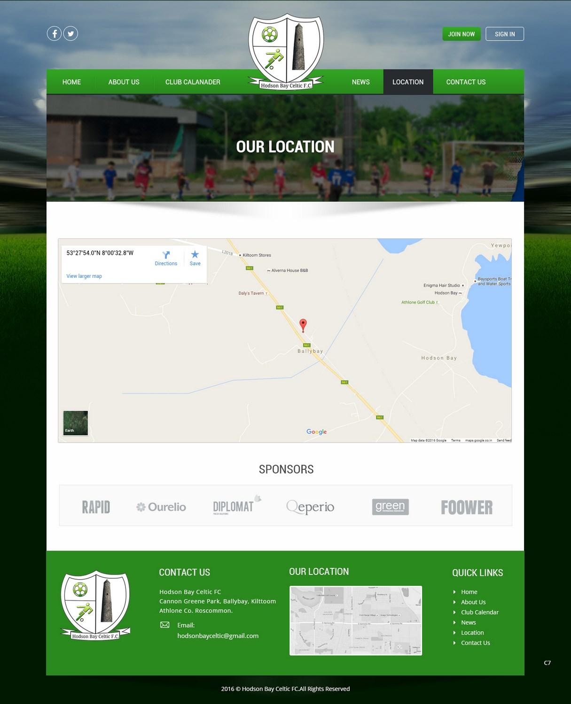 elegant playful club web design for heavey architects ltd by pb