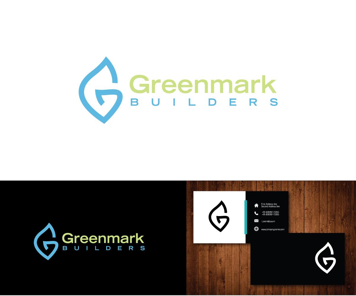 modern bold home builder logo design for greenmark builders by e