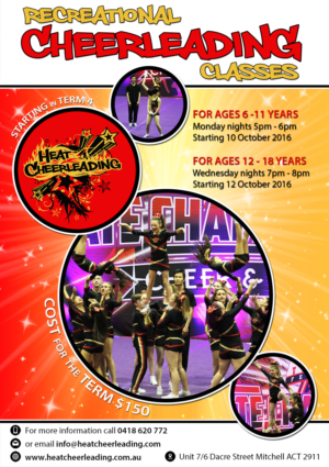 flyer design for heat cheerleading by liis