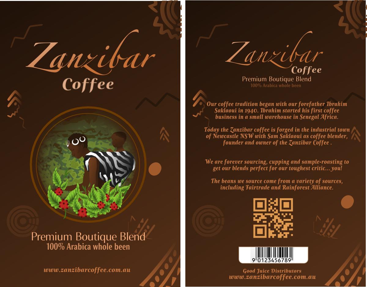 Colorful Playful Business Label Design For Zanzibar