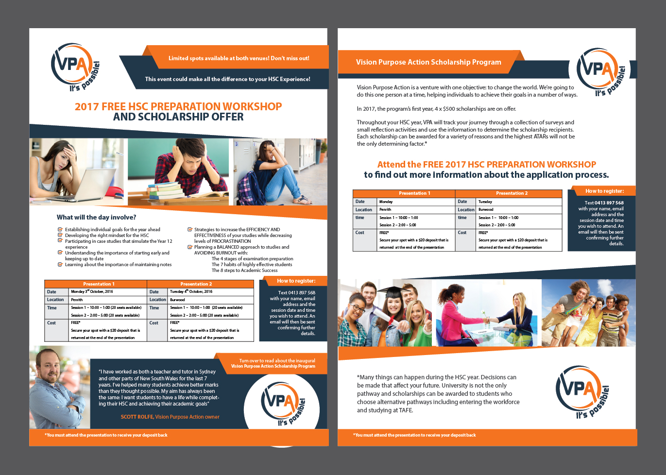 Bold, Playful, Education Flyer Design for a Company by Achiver