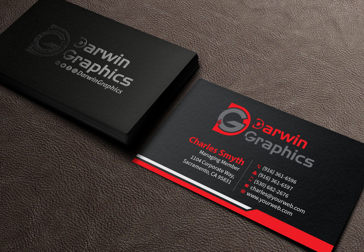 Business Business Card Design For Darwin Graphics By