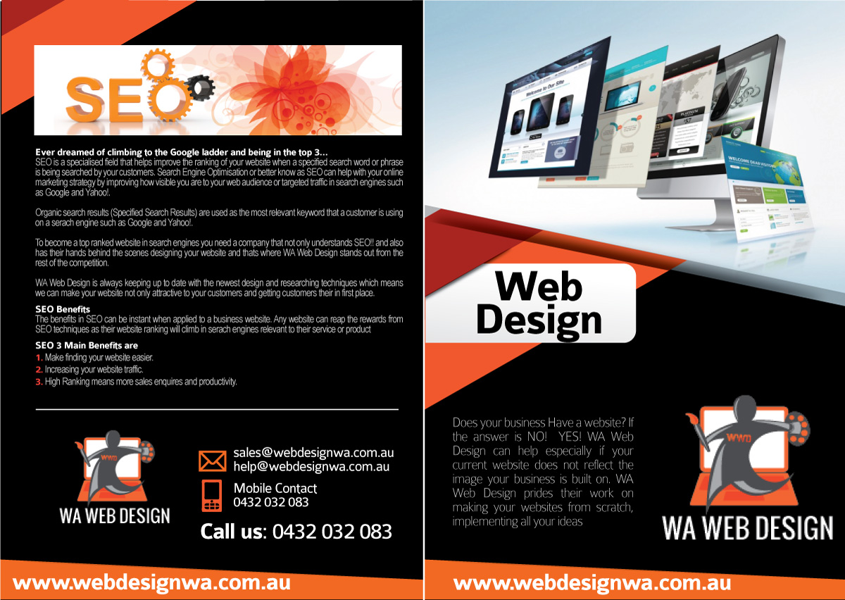 Brochure Design Job Brochure Brief For The Wa Computer Dr A Company In Australia