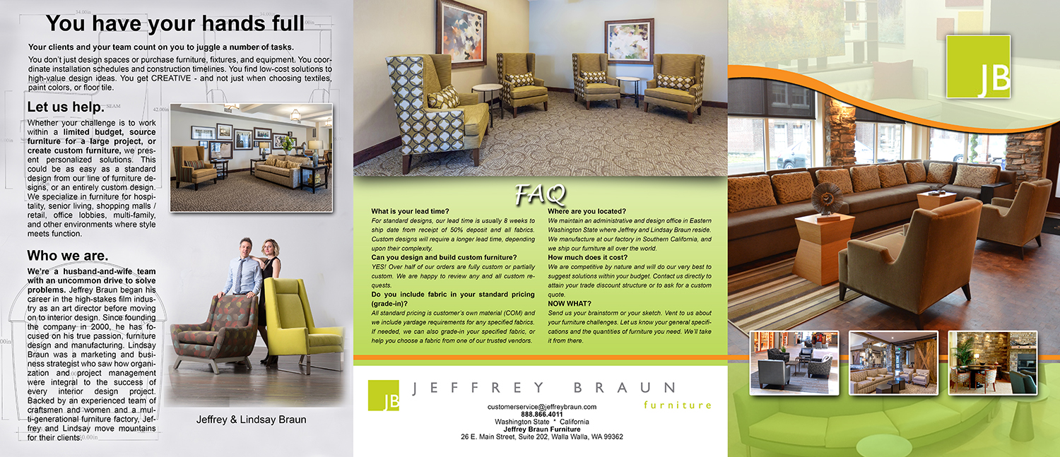Brochure Design By Cjmarquises For Jeffrey Braun Furniture 12074530