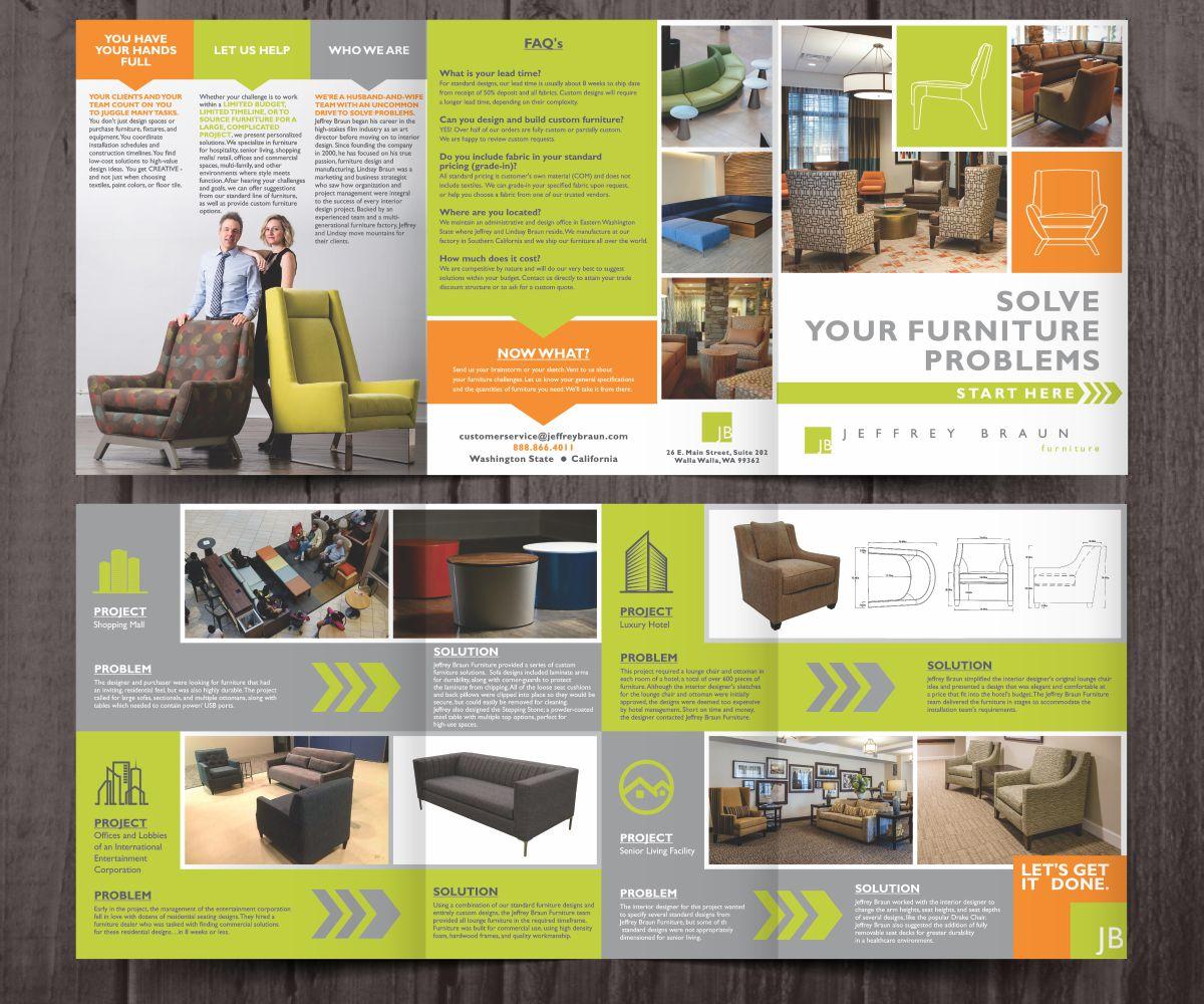 Brochure Design By Cut And Glue For Jeffrey Braun Furniture 12645237