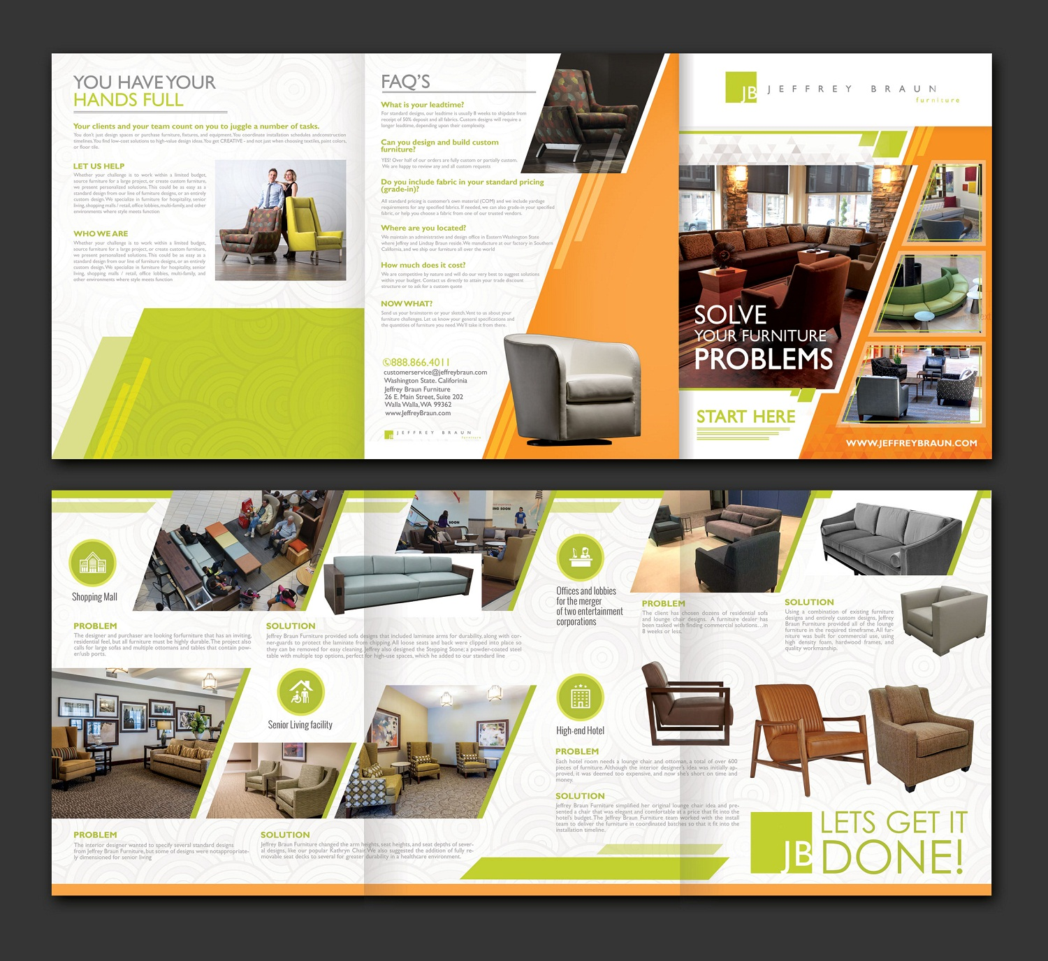 Brochure Design By Designguru For Jeffrey Braun Furniture 12076246