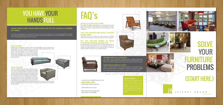 Brochure Design By Designanddevelopment For Jeffrey Braun Furniture 12079011