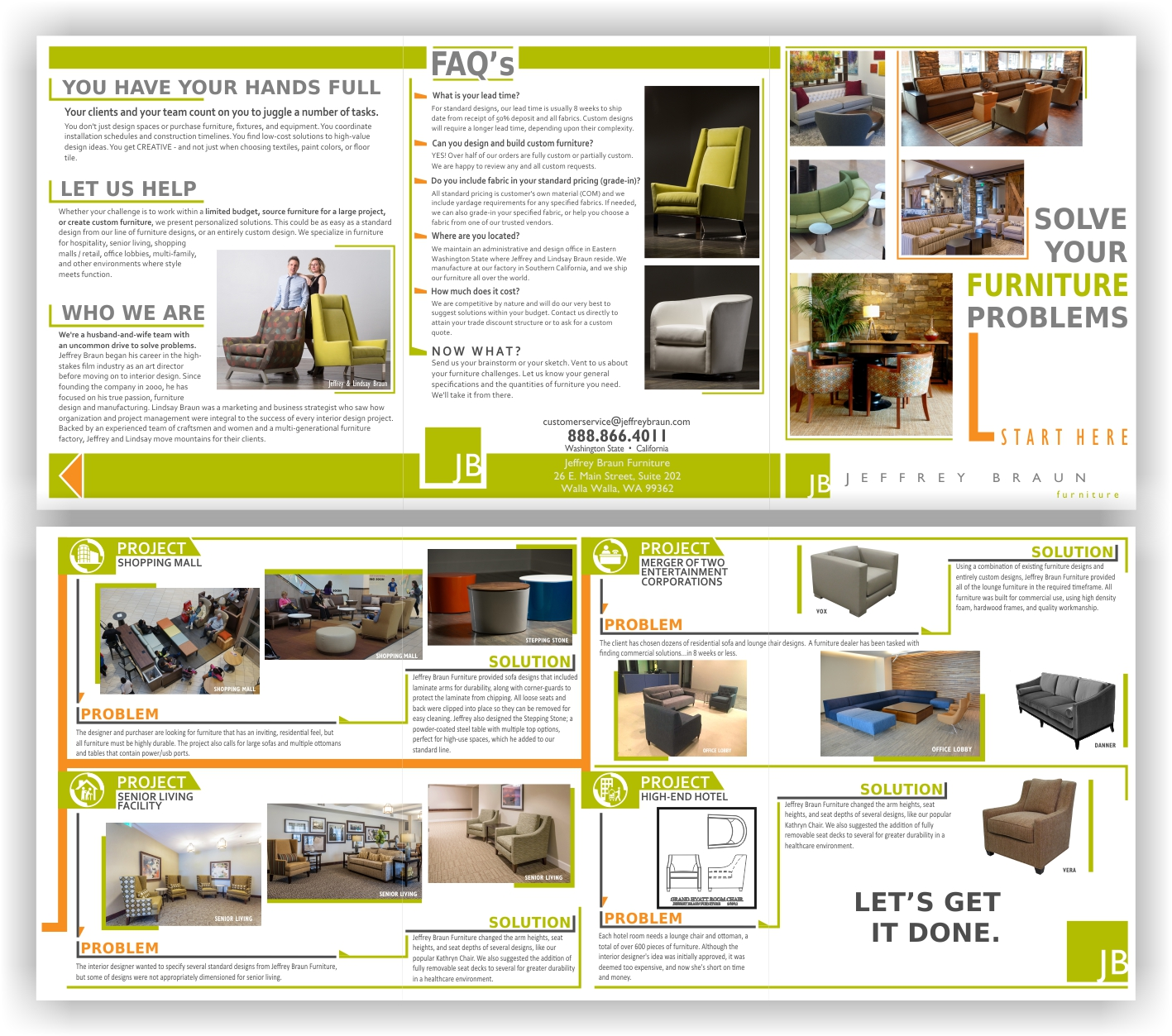 Brochure Design By Chromax8 For Jeffrey Braun Furniture 12079174