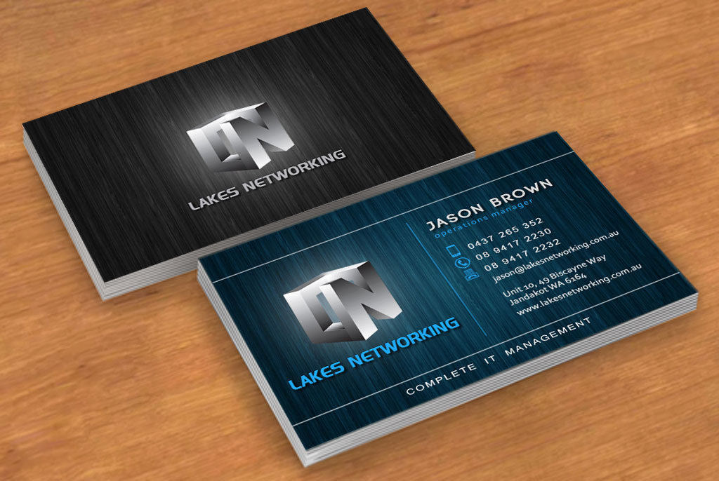 Elegant playful business business card design for lakes networking business card design by blakeminus for lakes networking design 2373556 colourmoves
