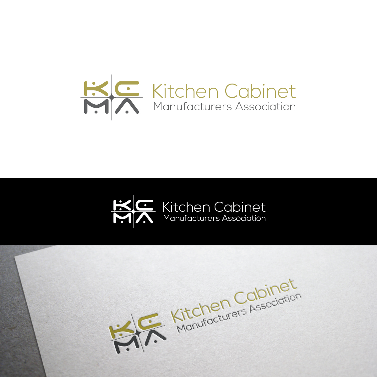 Trade Logo Design For Kitchen Cabinet Manufacturers Association By