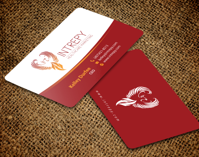 Colorful, Bold Business Card Design for Intrepy Healthcare Marketing ...