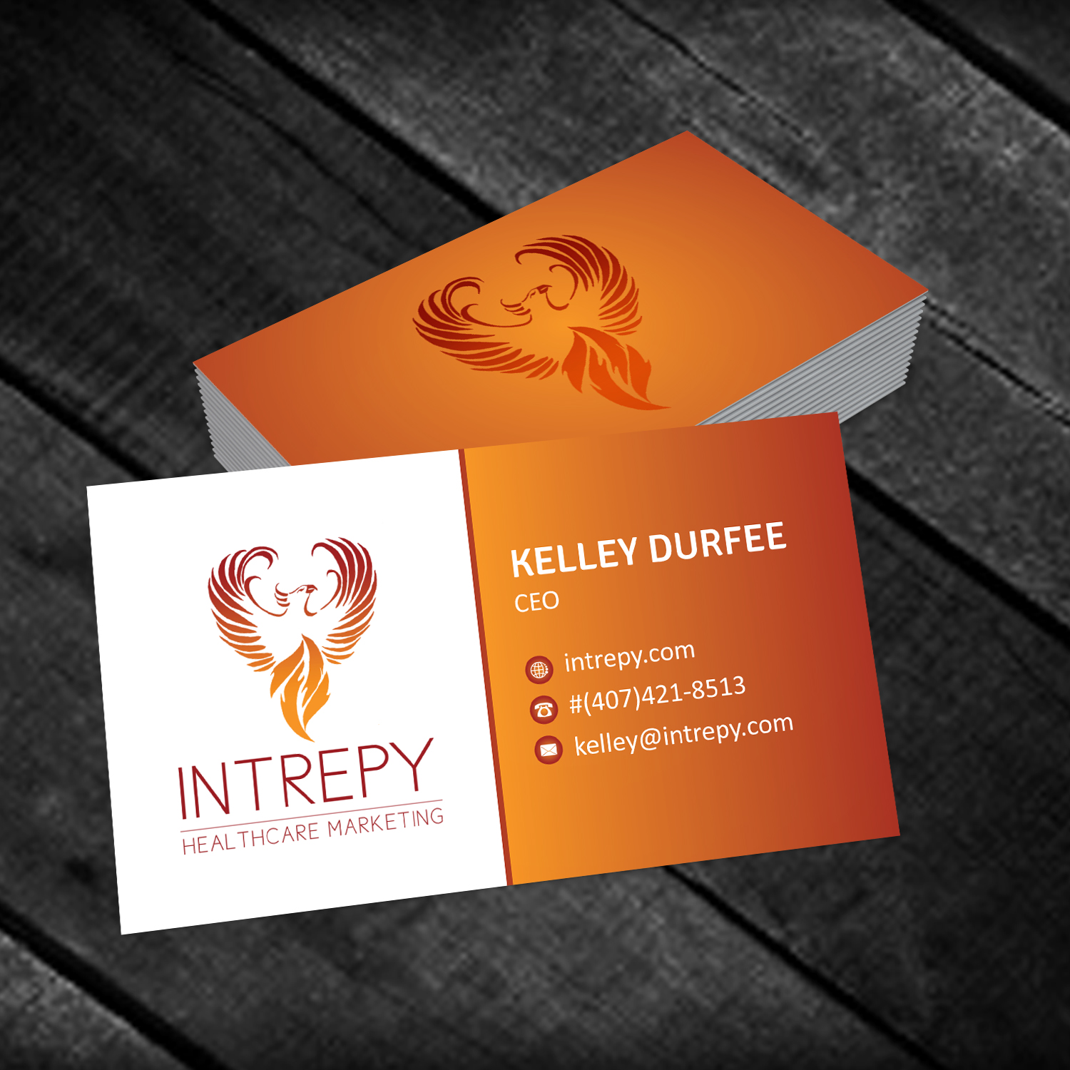 Colorful bold marketing business card design for intrepy business card design by creative jiniya for intrepy healthcare marketing design 12093786 colourmoves