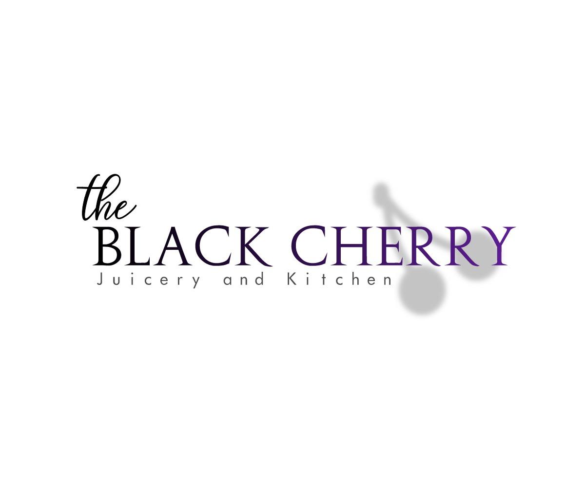 Kitchen Designer Logo Elegant Playful Logo Design For The Black Cherry Juicery And
