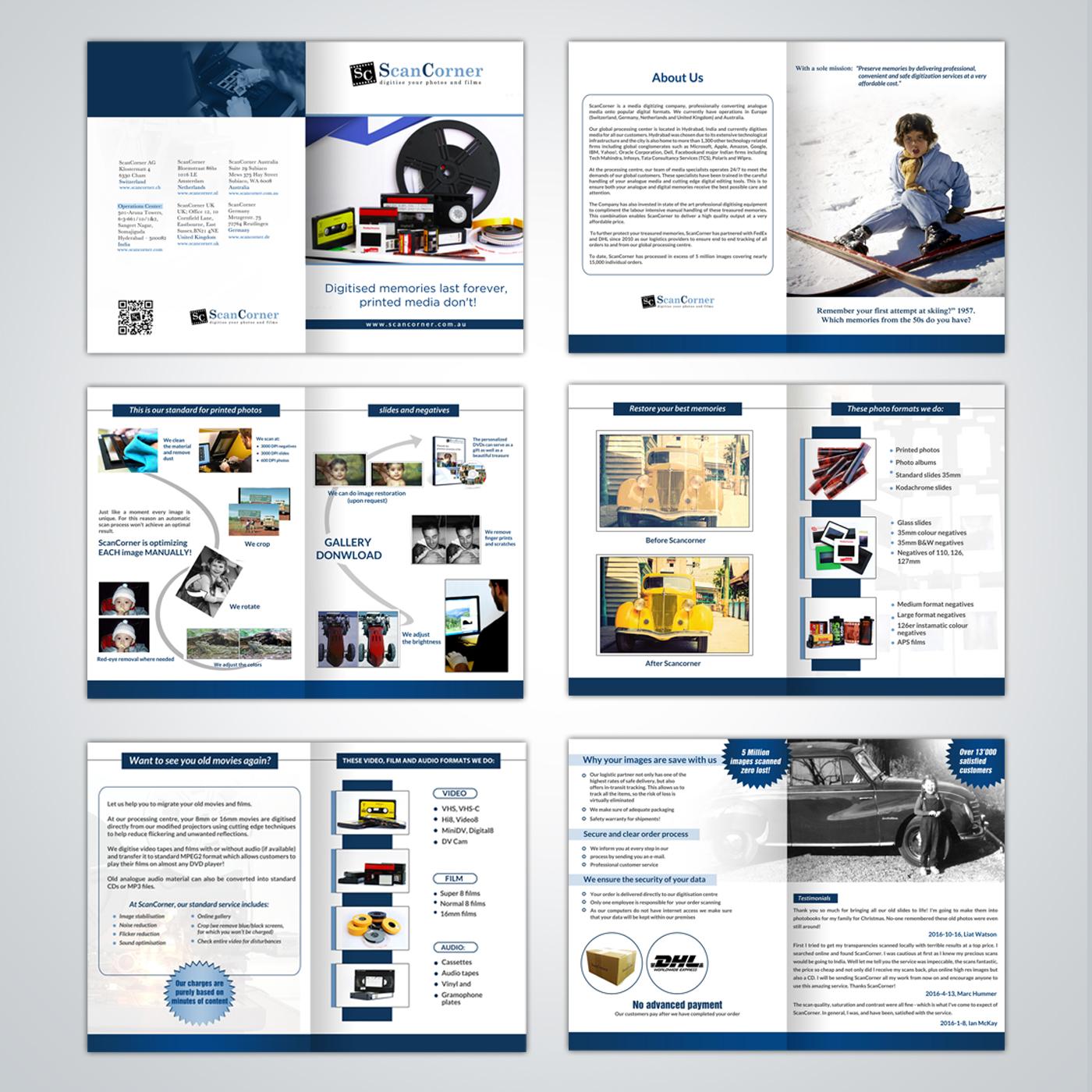 Professional Serious Digital Imaging Brochure Design For Scancorner Ag By Debdesign Design 12565520