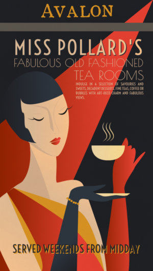 Create An Art Deco Vintage Poster For Restaurant
