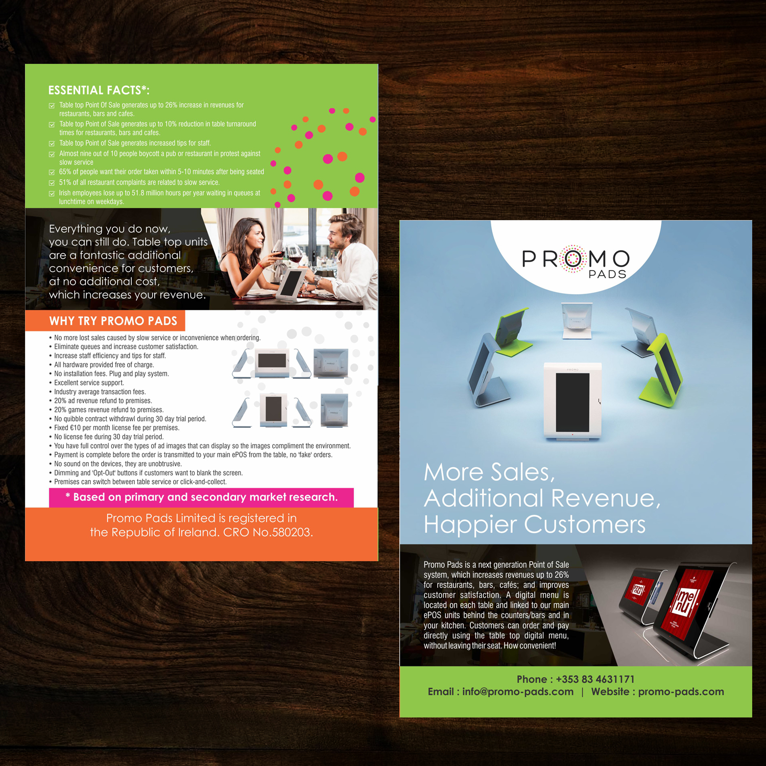 Modern, Serious, Cafe Flyer Design for Promo Pads Ltd. by uk ...