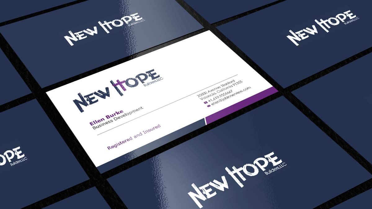 Elegant, Playful, Ministry Business Card Design for New Hope ...