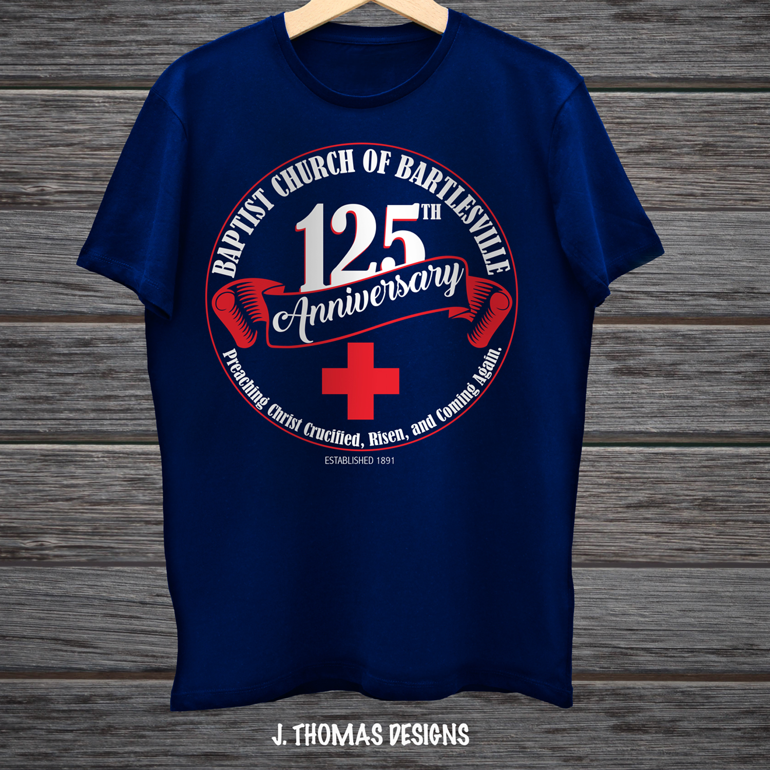 Bold Serious Church T Shirt Design For A Company By J