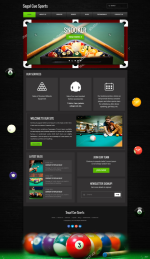 web design design 12055818 submitted to snooker billiards cuesports