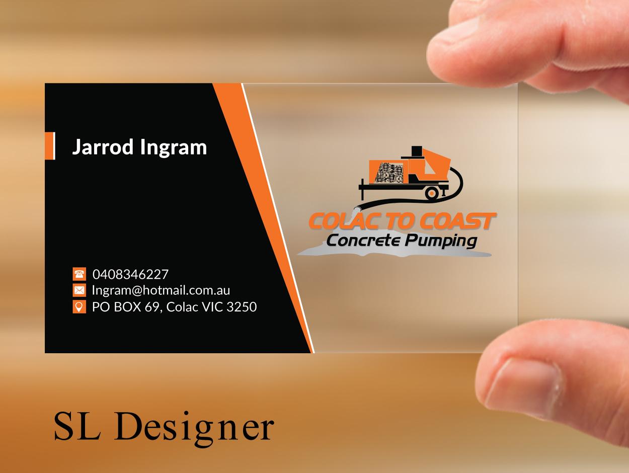 Bold, Serious Business Card Design for Colac To Coast Concrete ...