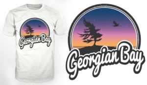 2dc4cbde More T-shirt Designs from ''Georgian Bay' logo/t-shirt design with  California-style branding'