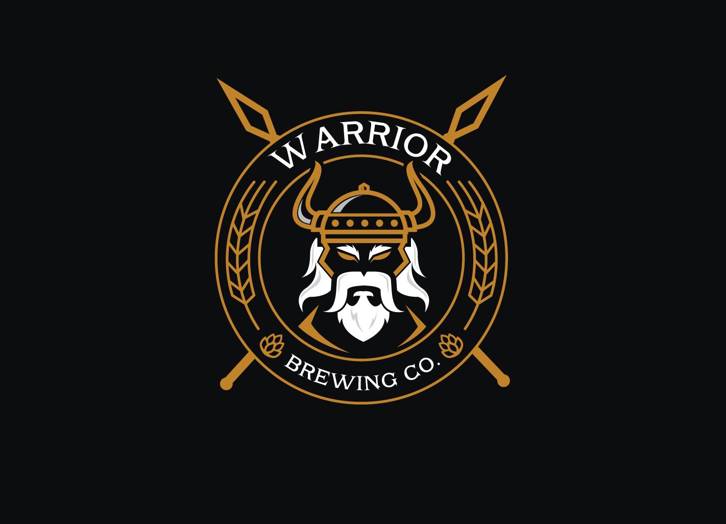 Masculine Modern Brewery Logo Design For Warrior Brewing Co